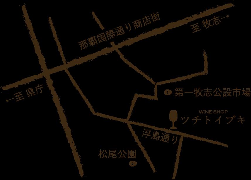 WINE SHOP ツチトイブキの地図